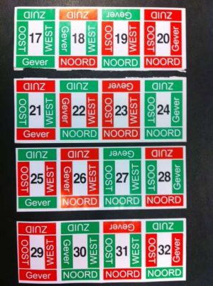 Stickervel t.b.v. board voor Dupli of NBB (los)-0