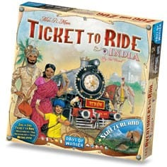 Ticket to Ride - India/Switzerland (Map collection 2)-0