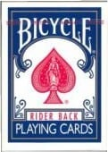Bicycle Poker rood of blauw-0
